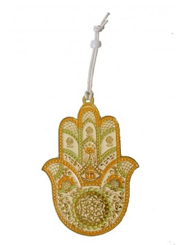 Hanger Hamsa Small Gold Ivory Plated