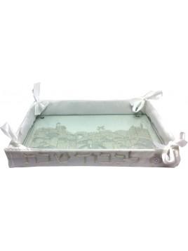 Challah Basket w/Glass