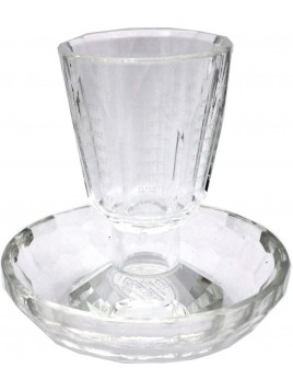 Kiddush Goblet w/Coaster Crystal