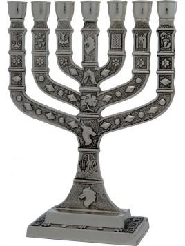 Menorah Knesset 22 cm Pewter