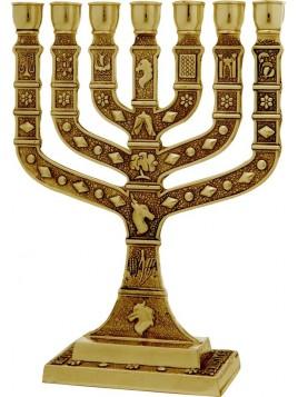 Menorah Knesset 35 cm Brass