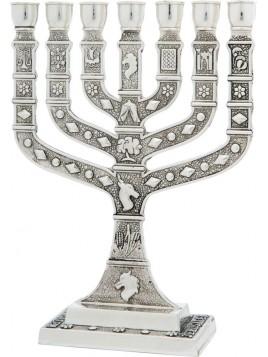 Menorah Knesset 35 cm Silver
