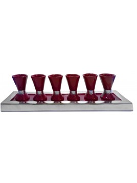 Wine Set Enamel Marron