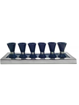 Wine Set Enamel Navy Blue