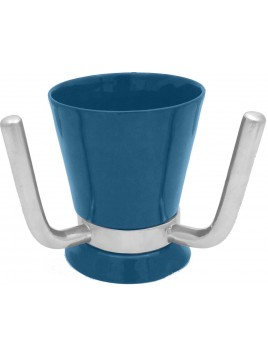 Wash Cup Enamel Blue