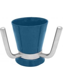 Wash Cup Enamel Blue