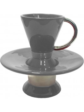 Wash Cup Enamel Gray