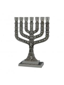 Menorah Knesset 16 cm Pewter