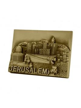 Magnet Jerusalem Brass
