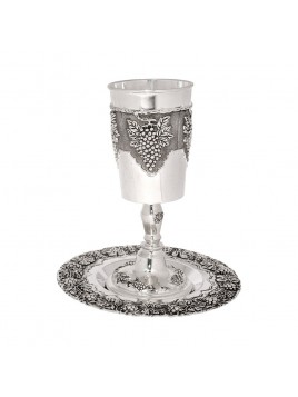 Coupe de Eliahou decoration Design grappe de raisin Argente