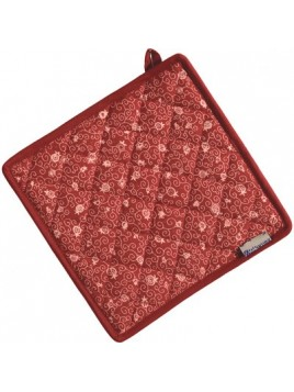 Sous plat tissus carrelé Rouge
