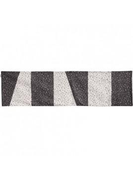 Centre de Table 150 cm en noir et blanc