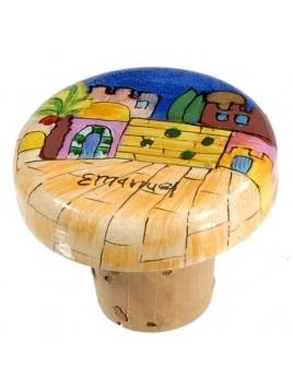 Bouchon Pour Bouteille de vin design Jérusalem