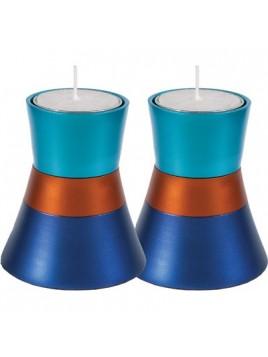 Chandeliers anodisé bleu turquoise