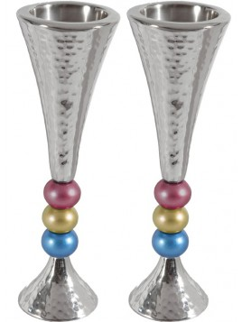 Bougeoirs 3 pierres coloré