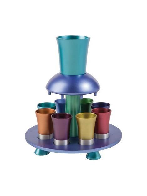 Fontaine a vin anodisé multicolore