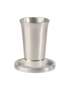 Verre de Kiddouch avec assiette assortie Aluminium