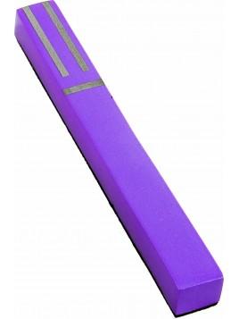 Boitier de Mezouza Shin Géométrique violet