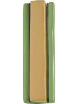 Boitier Mezouza 2 Morceaux 10cm vert + Couleur Or