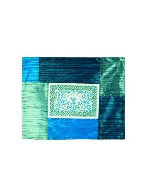 Couvre plaque de Chabbat Avec broderie ininflammable bleu
