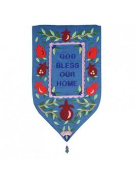 Décoration Murale forme Spéciale Petit Bénédiction Petit Cœur En anglais bleu