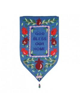 Décoration Murale forme spéciale XXL Bénédiction Petit Cœur En anglais bleu