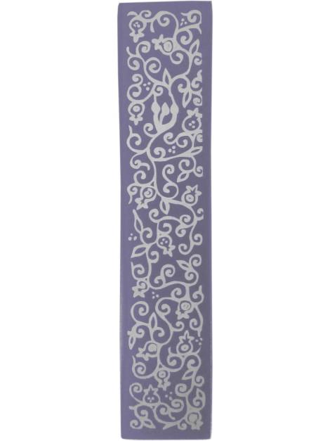Boitier Mezouza Taillé au laser Grenadier violet