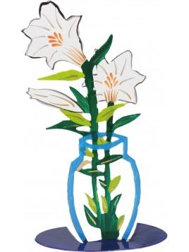 Fleur Tailler au laser + peint a la main