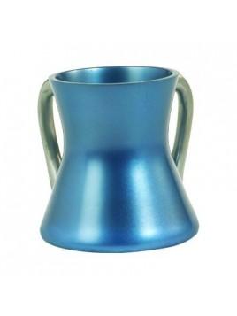 Keli de Netilat Yadayim en métal anodisé Petit bleu