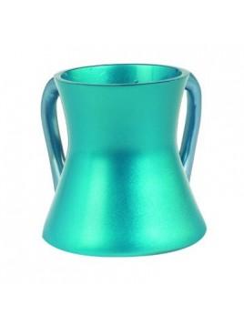 Keli de Netilat Yadayim en métal anodisé Petit turquoise