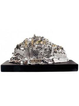 Panorama de Jerusalem 3-D Plaque argent 925
