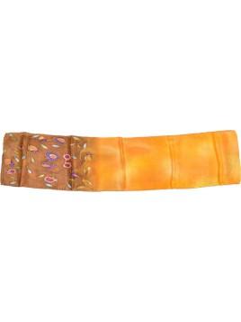 echarpe en soie design grenade Design Orange