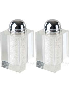 poivre et sel Set en cristal brillant