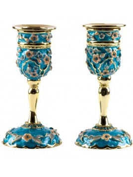 Bougeoirs Turquoise