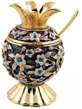 Pot a Miel en forme de Grenade bleu