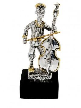 Violoncelliste Plaque argent 925