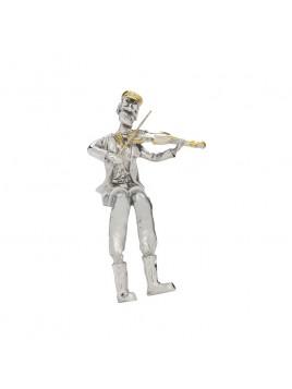 joueur de violon argente