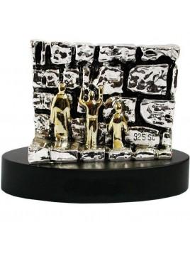 Kotel en miniature 11cm plaque argent