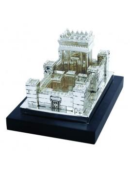 Le second temple Ex-large Plaque argent