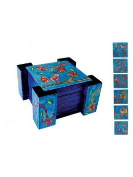Set of 6 coasters + Holder