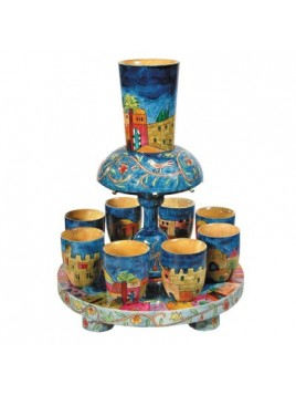 Fontaine a Kiddouch + 8 Petits verres Jerusalem