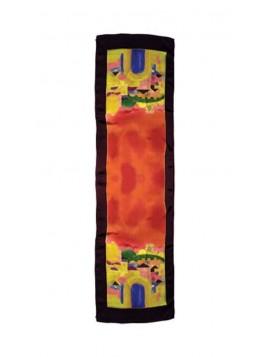 Echarpe Paint sur Design de Jerusalem Rouge