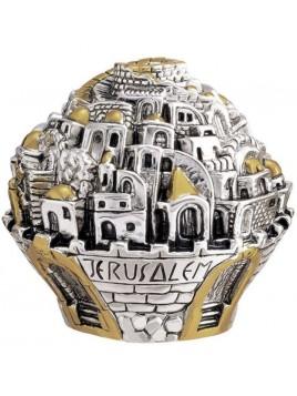 Balle sur theme Jerusalem Medium Plaque argent 925