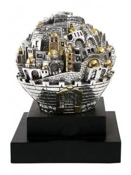 Balle sur theme Jerusalem XL Plaque argent 925