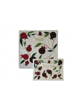 Raw Silk Applique`d Matzah