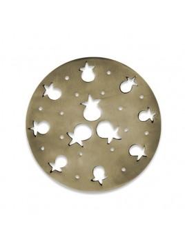 Sous plat design en aluminum