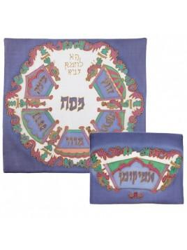 Silk Painted Matzah