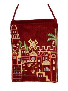 Porte-Passeport - Brodee Jerusalem Rouge