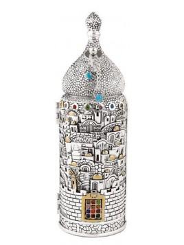 Sefer Torah Design de Jerusalem Plaque argent 925