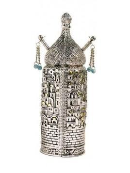 Sefer Torah Design de Jerusalem Petit Plaque argent 925